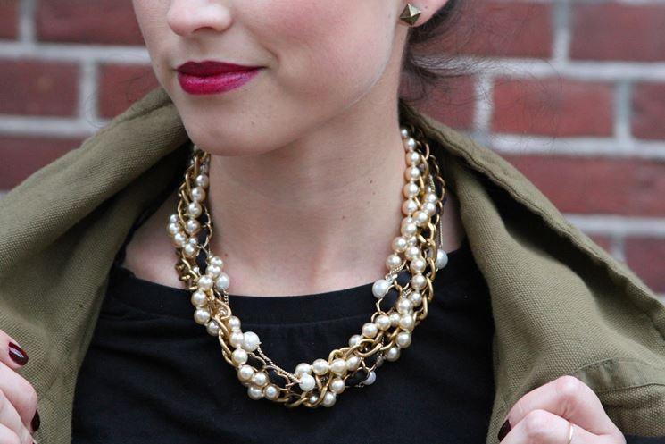 Amato Collane di perle fai da te - Bigiotteria fai da te - Collana perle  UL87