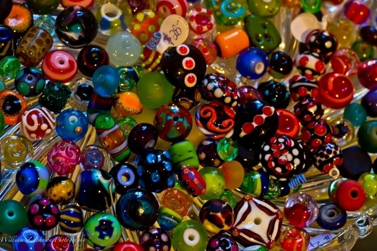 Perline vetro colorato