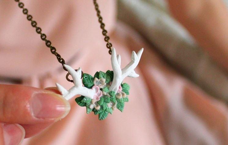 decorazione in fimo per gioielli