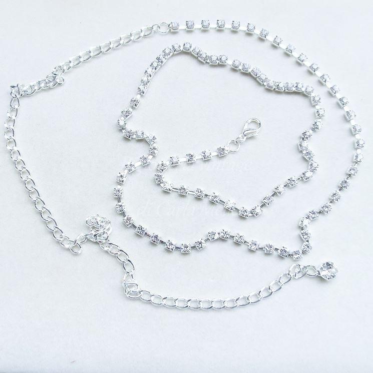 Gioielli in argento con zirconi