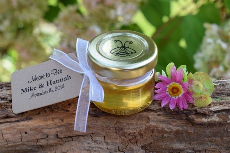 Bomboniera con vasetti di miele