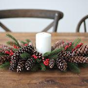 Un semplice centrotavola natalizio
