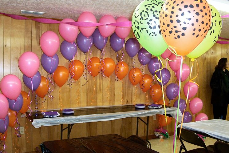 Decorazioni con palloncini per un compleanno