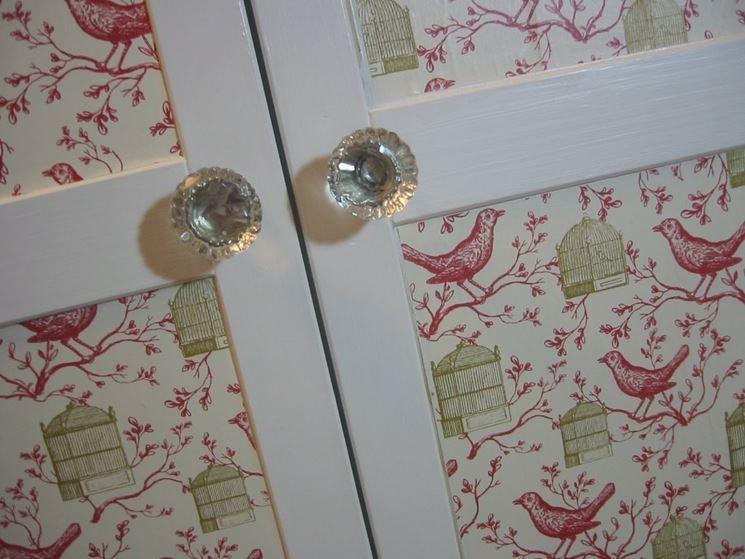Porta decorata decoupage