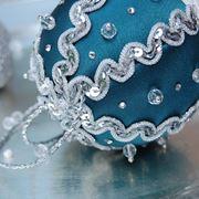 palline natalizie con pailletes