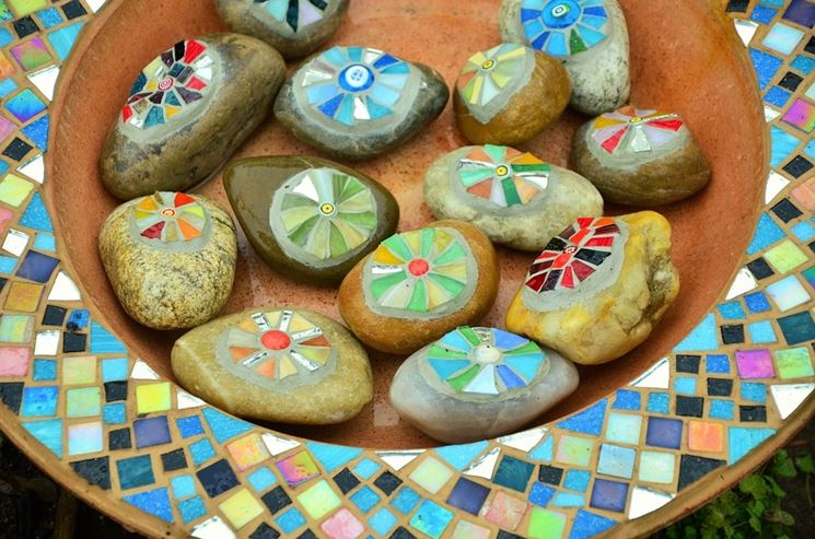 Piatto con mosaico