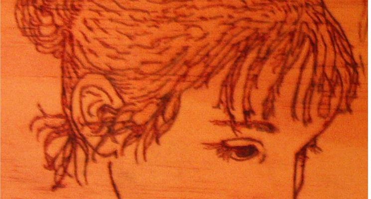 Ritratto pirografia