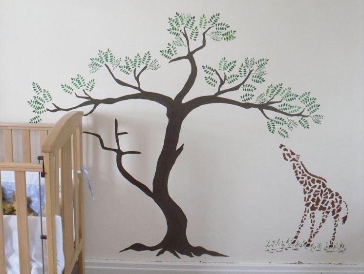 Stencil per pareti come decorare decorare con gli - Stencil per decorare pareti ...