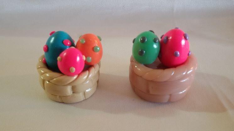 Uova di Pasqua di fimo