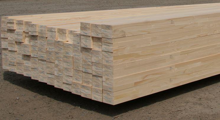 Travi in legno di abete
