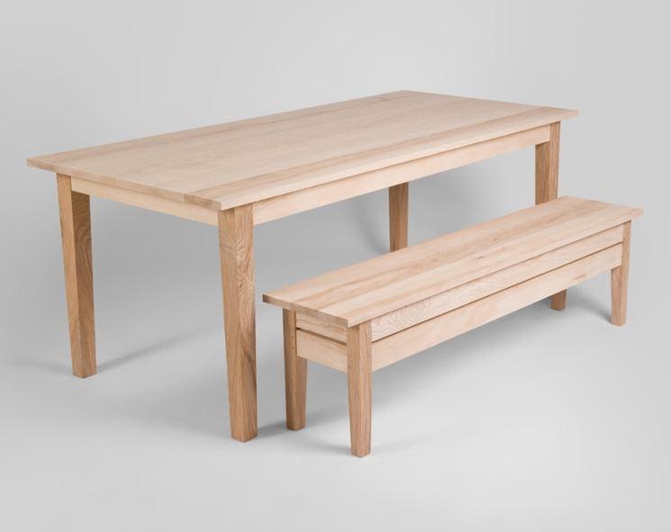 Panca tavolo legno
