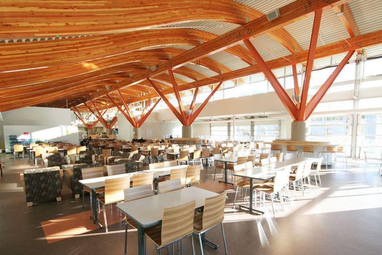 legno lamellare per copertura
