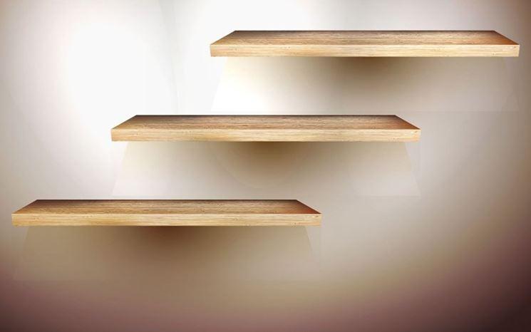 Mensole realizzate in legno multistrato
