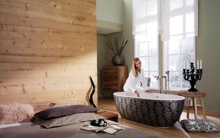 Perline in legno fai da te legno installare perline in legno - Rivestire parete con legno ...