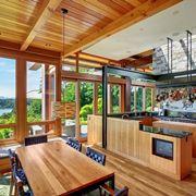 Interno in legno di un'abitazione