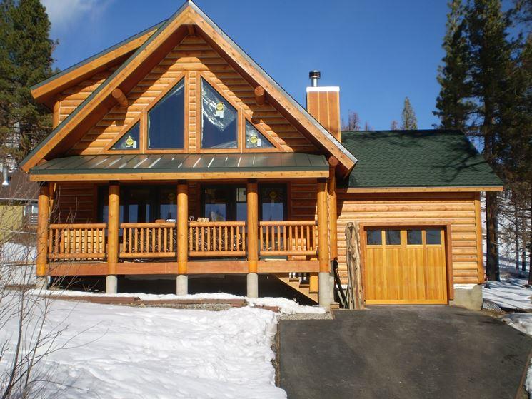 Esterno casa in legno