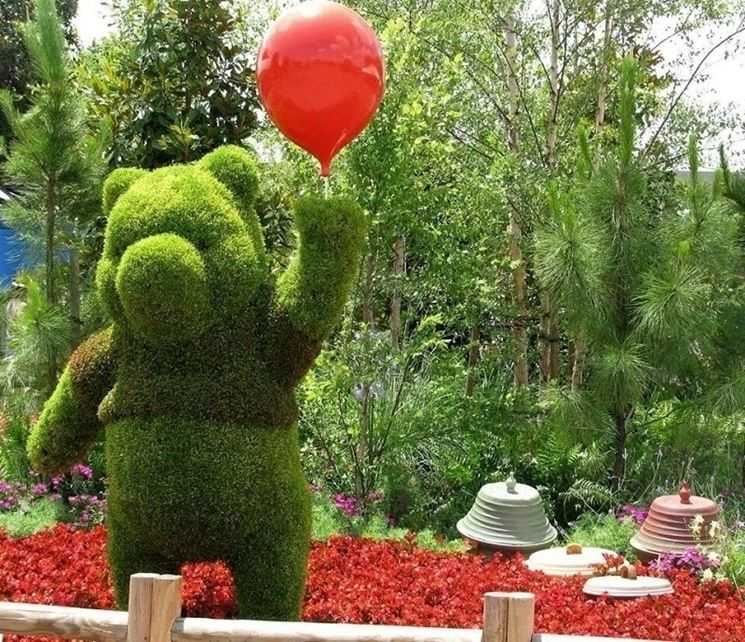 Winnie the pooh arte topiaria