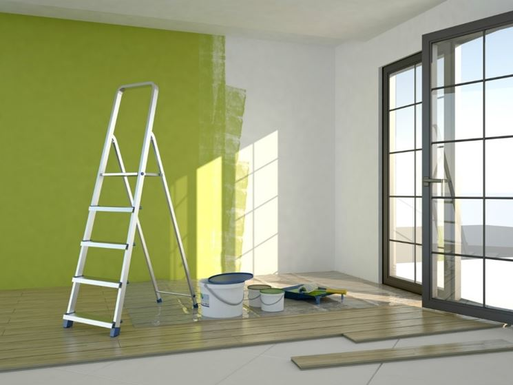 Pareti dipinte in verde