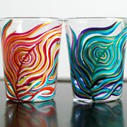 Bicchieri decorati a mano