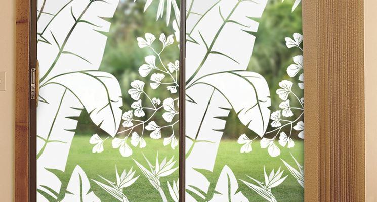 Grande vetrata decorata