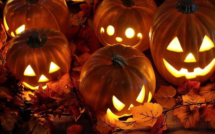Zucche di Halloween.