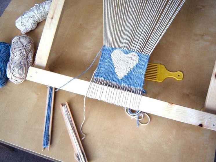 telaio a cornice per tessitura