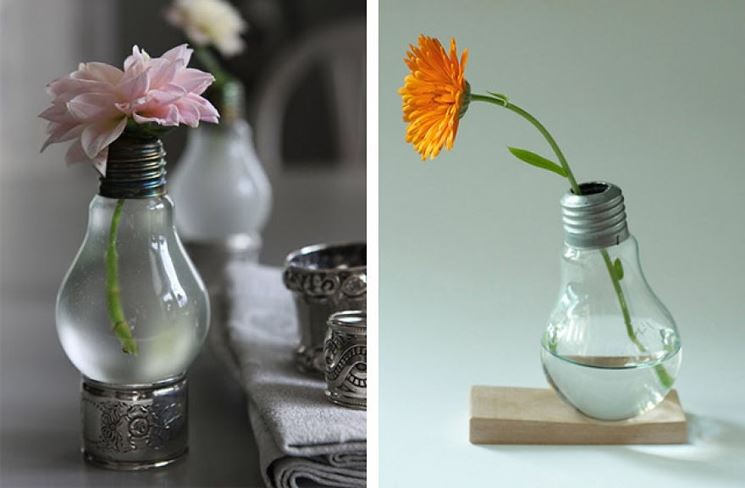 lampadine porta fiori