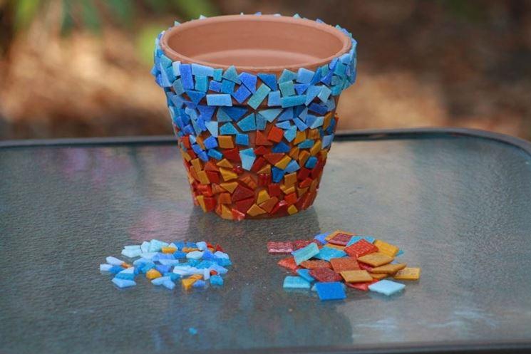 mosaico su vaso