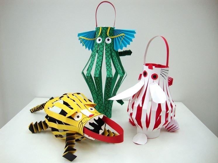 oggetti per bambini realizzati con papercraft