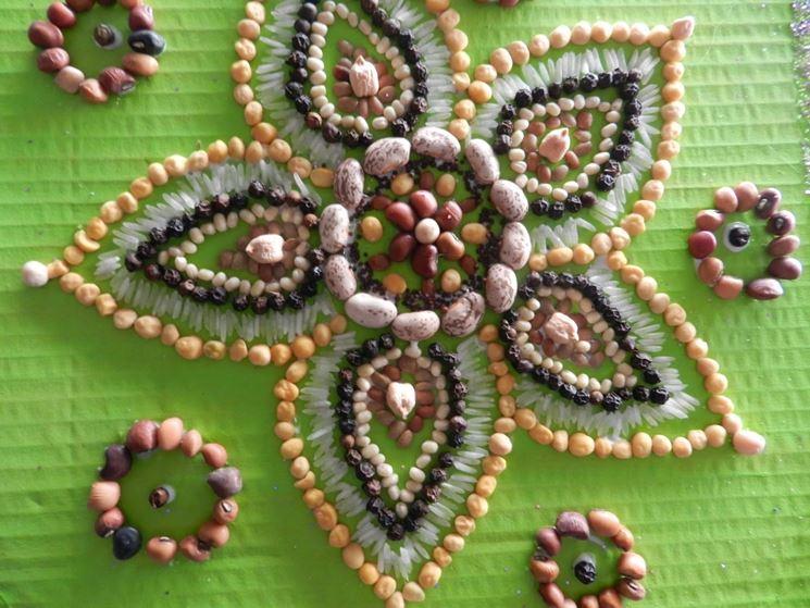 decorazione con semi