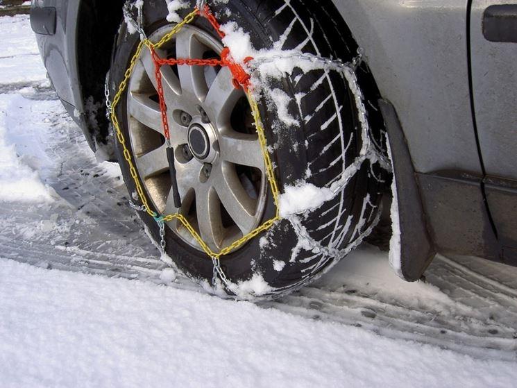 montare catene da neve