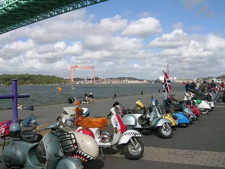 Una serie di scooter
