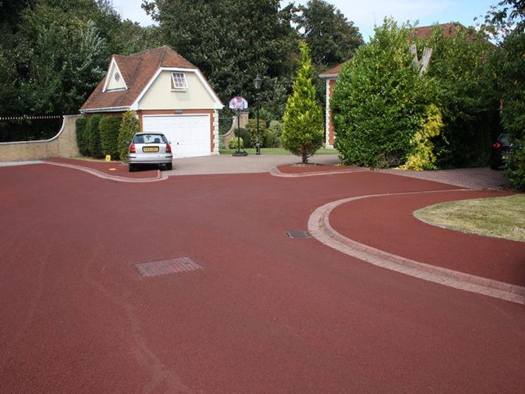 Effetti asfalto colorato