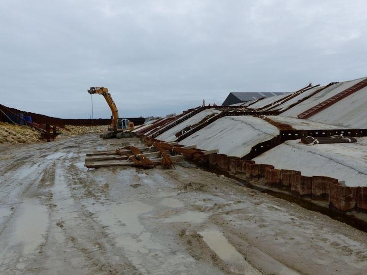 Costruzione diga cemento siderurgico