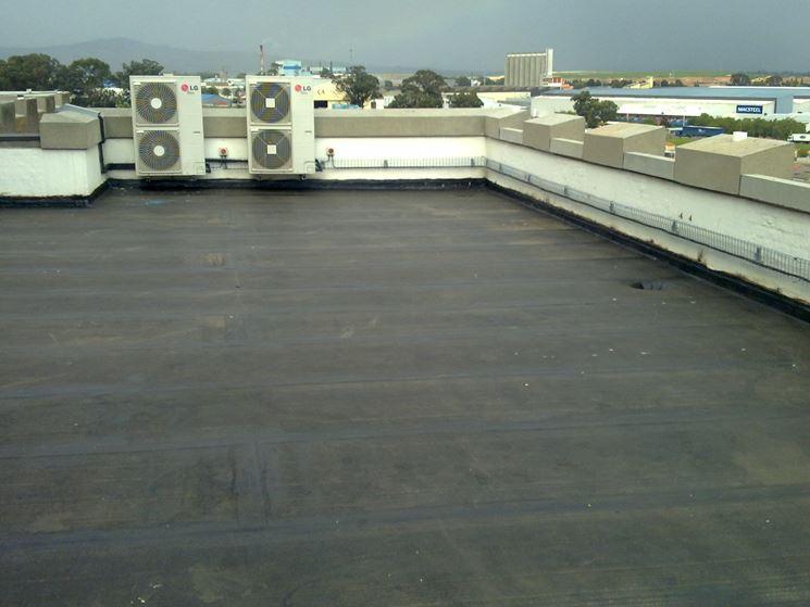 Una terrazza ricoperta da guaina
