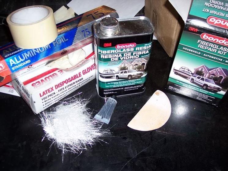 utilizzare kit in vetroresina