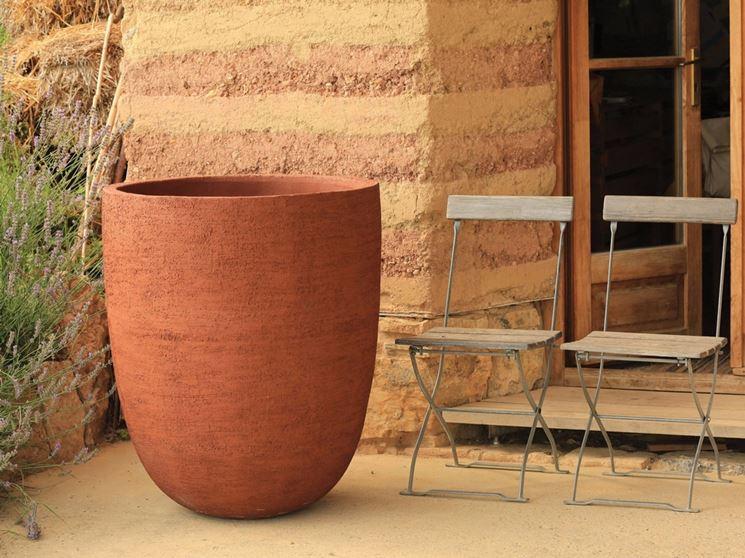 grande vaso in terracotta