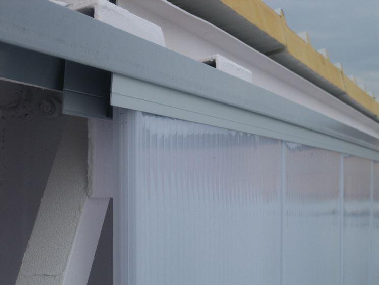 Tamponamento con pannelli in policarbonato