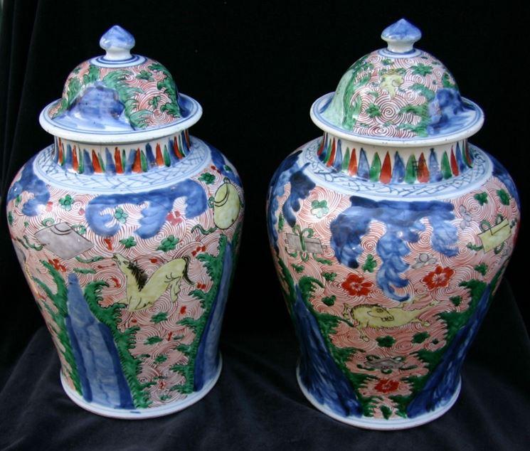 Vasi cinesi in porcellana