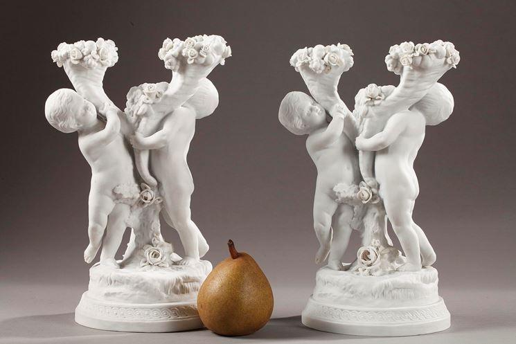 Statuette di porcellana Biscuit