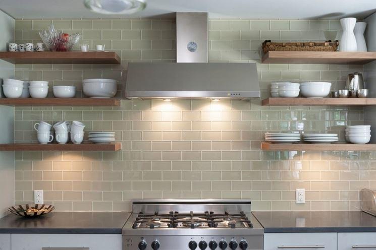 Rivestimento cucina in bicottura lucida