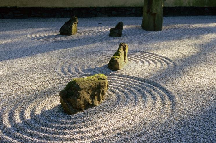 Utilizzo sabbia giardino