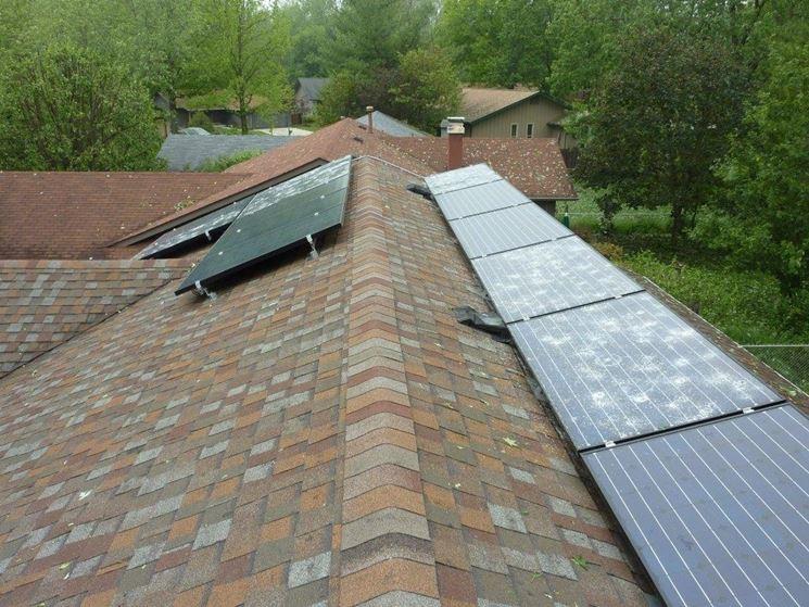 Pannelli fotovoltaici rovinati