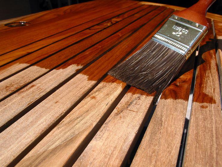 Esempio di verniciatura legno