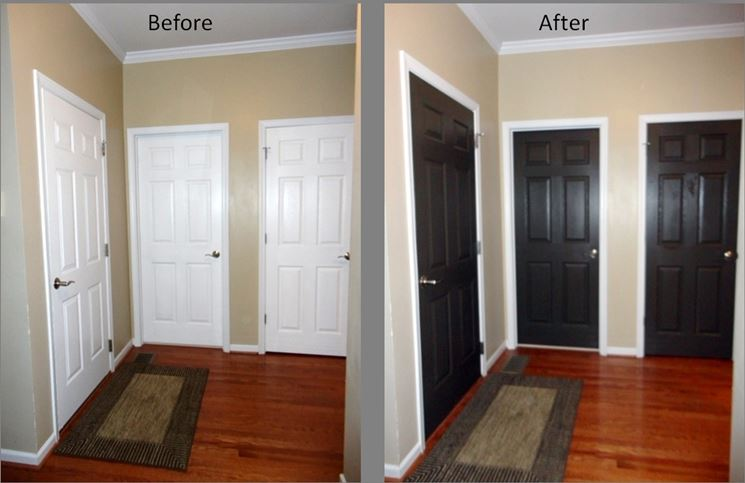 Verniciare porte interne tinteggiare come verniciare porte interne - Verniciare porte interne laminato ...