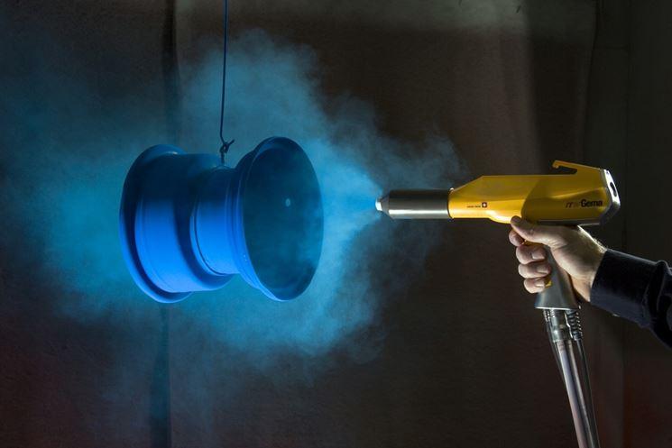 Pistola per verniciatura a polvere