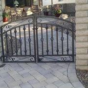 Cancello in ferro verniciato