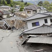Città colpita da terremoto