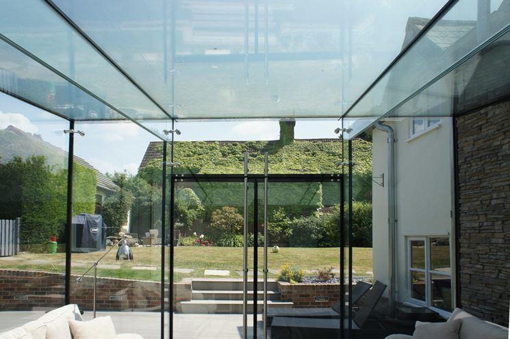 Veranda in vetro strutturale