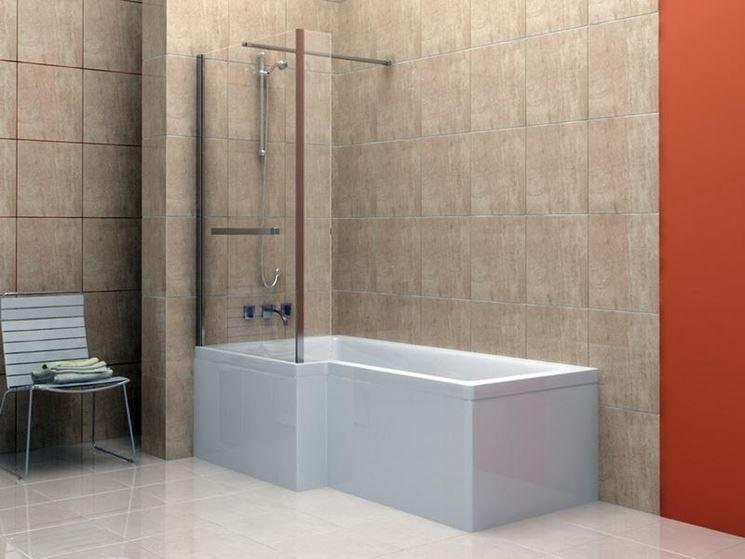 Vetro vasca da bagno vetri protezione vasca - Vasca da bagno in vetro ...
